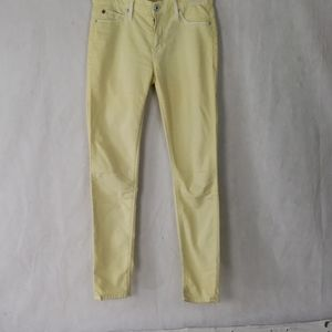HUDSON yellow mid rise skinny Jean's size 25